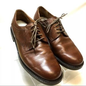 Johnston & Murphy Mens Soft Brown Leather Oxfords